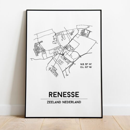 Renesse city poster